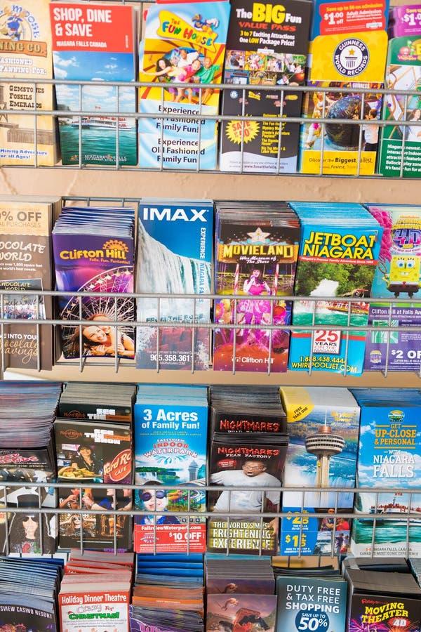 Geassorteerde reisbrochures stock foto