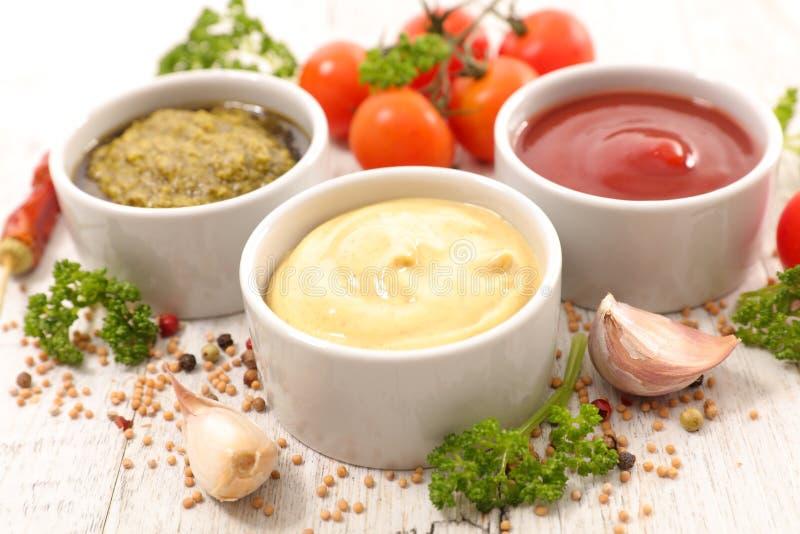 Geassorteerde saus royalty-vrije stock afbeelding