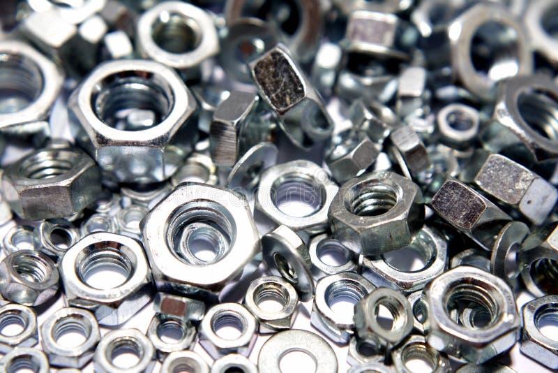 Geassorteerde staalnoten stock foto