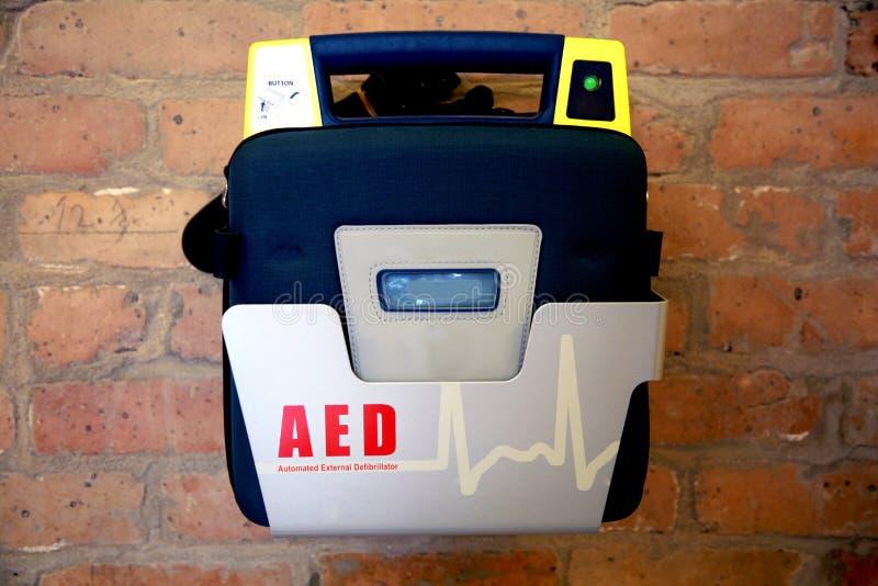 Geautomatiseerd Extern Defibrillator of AED royalty-vrije stock fotografie