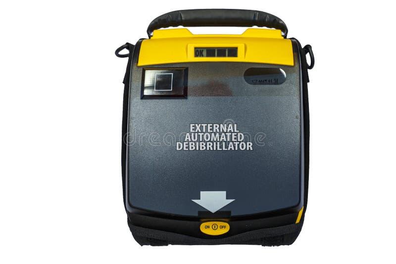 Geautomatiseerd Extern Defibrillator of AED stock afbeelding