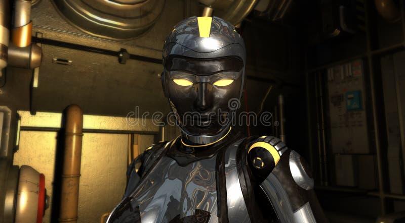 Geavanceerde androïde royalty-vrije illustratie