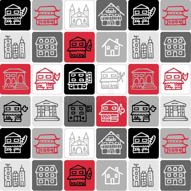 Gebäude überprüftes Muster vektor abbildung
