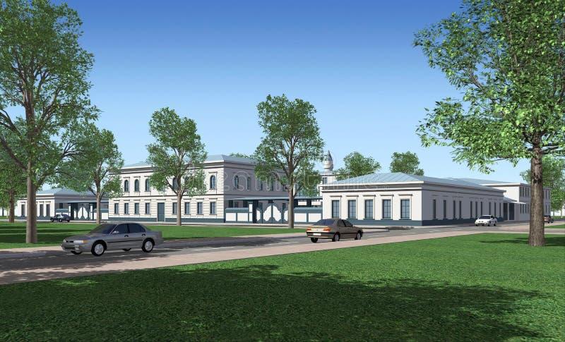 Gebäude 3D lizenzfreie abbildung