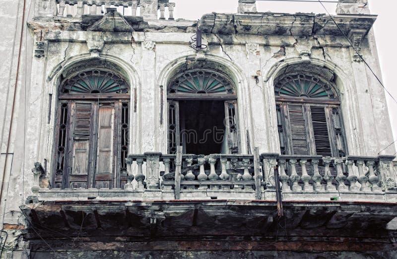 Gebäude in altem Havana stockbild