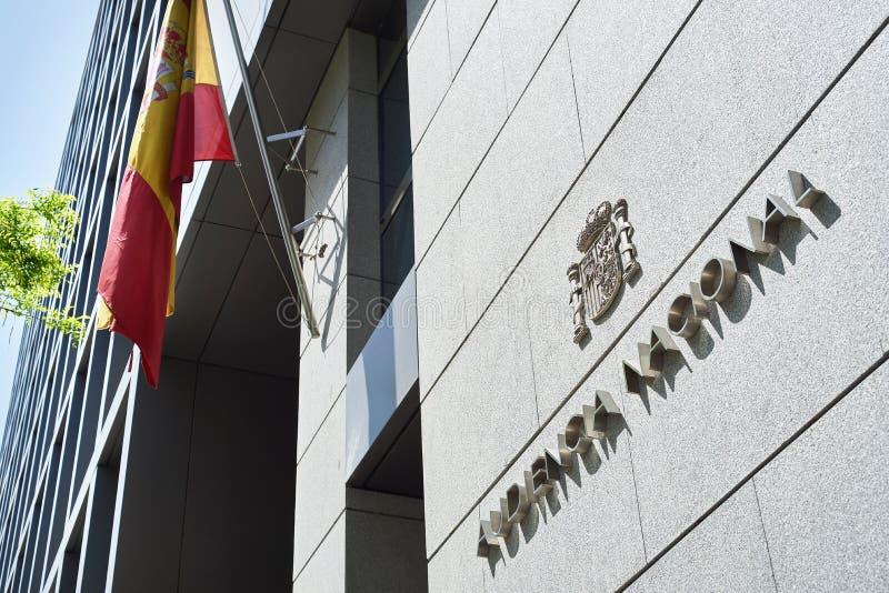 Gebäude Audiencia Nacional in Madrid lizenzfreies stockbild