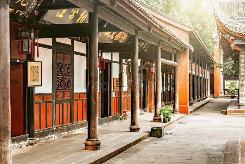 Gebäude auf dem Gebiet von Wenshu-Kloster stockfotos