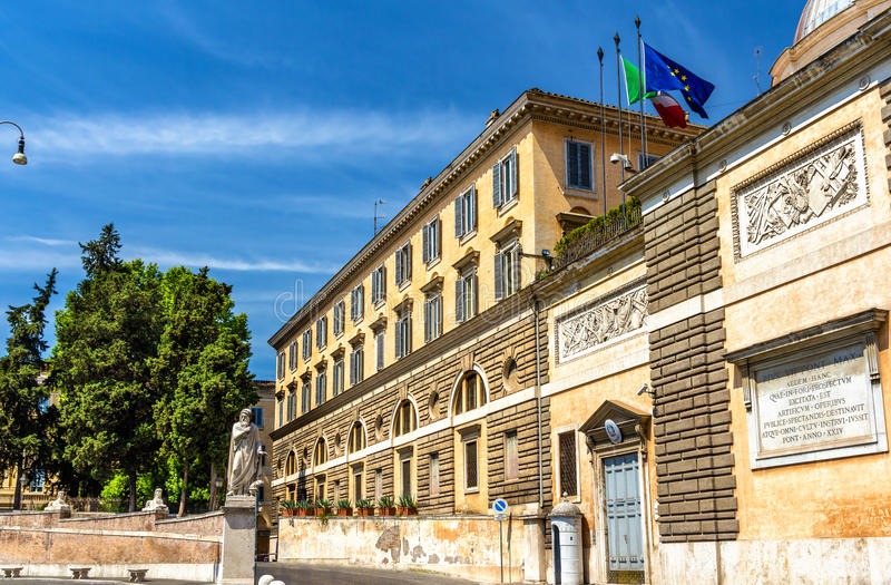 Gebäude auf Piazza Del Popolo Square in Rom stockfotografie