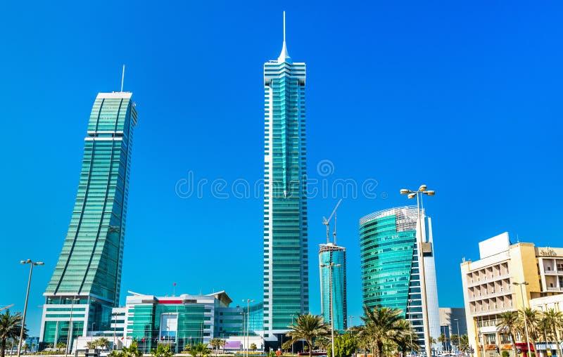 Gebäude in Bahrain-Finanzhafen, Manama lizenzfreie stockbilder