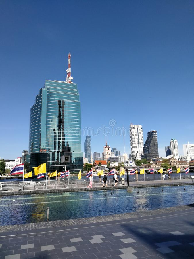 Gebäude in Bangkok Thailand lizenzfreie stockbilder