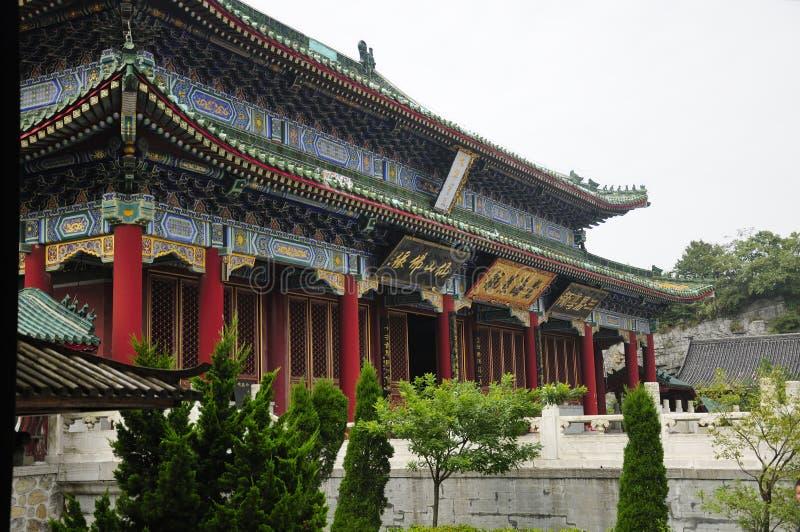 Gebäude buddhistischen Tempels Berg Tianmen lizenzfreie stockfotografie