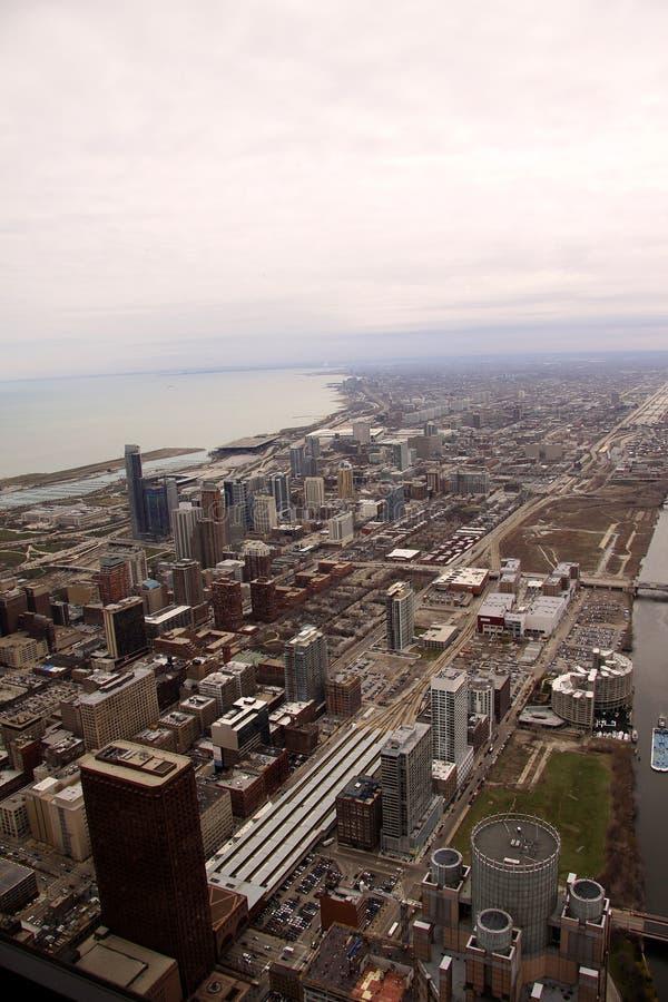 Gebäude der Chicago-Stadt stockfoto