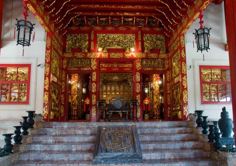Gebäude der chinesischen Art an Knall-PA innen, Thailand lizenzfreies stockbild