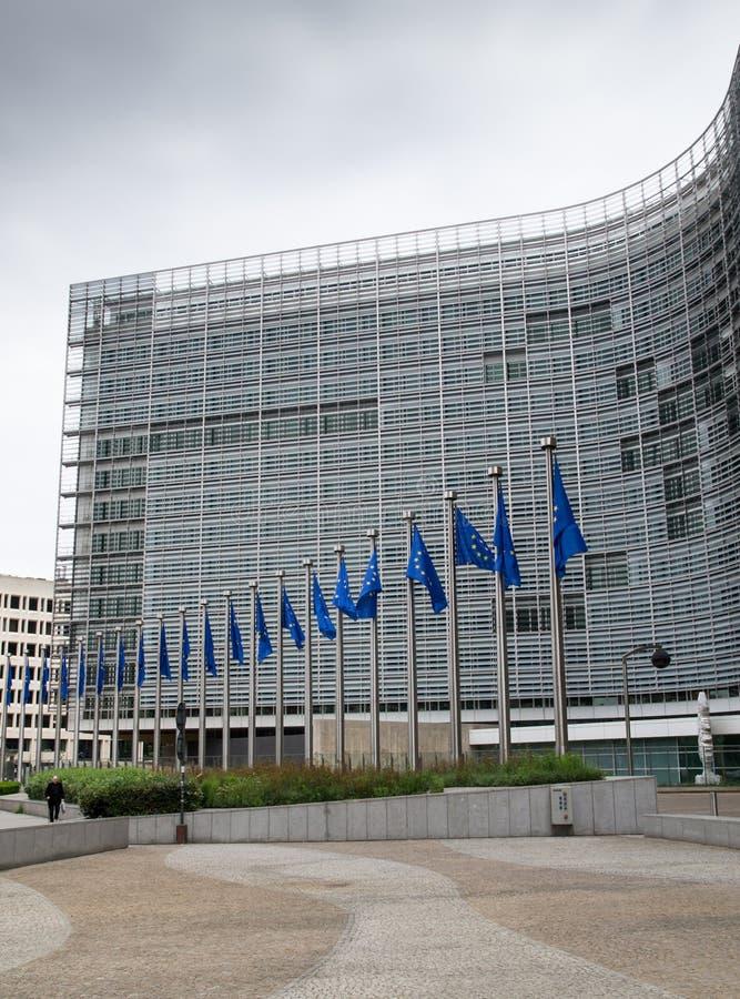 Gebäude der Europäischen Kommission lizenzfreie stockbilder