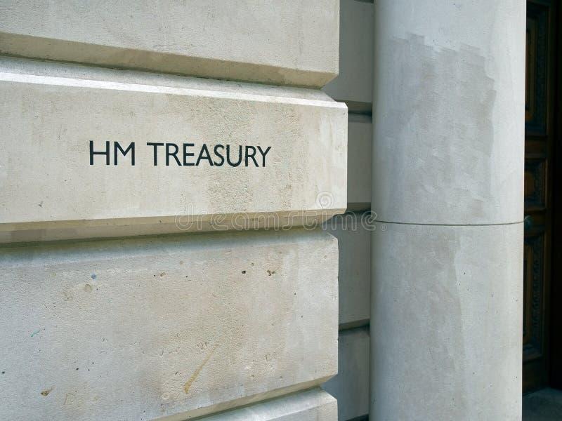Gebäude der MAJESTÄT Fiskus, London, Großbritannien lizenzfreie stockfotografie
