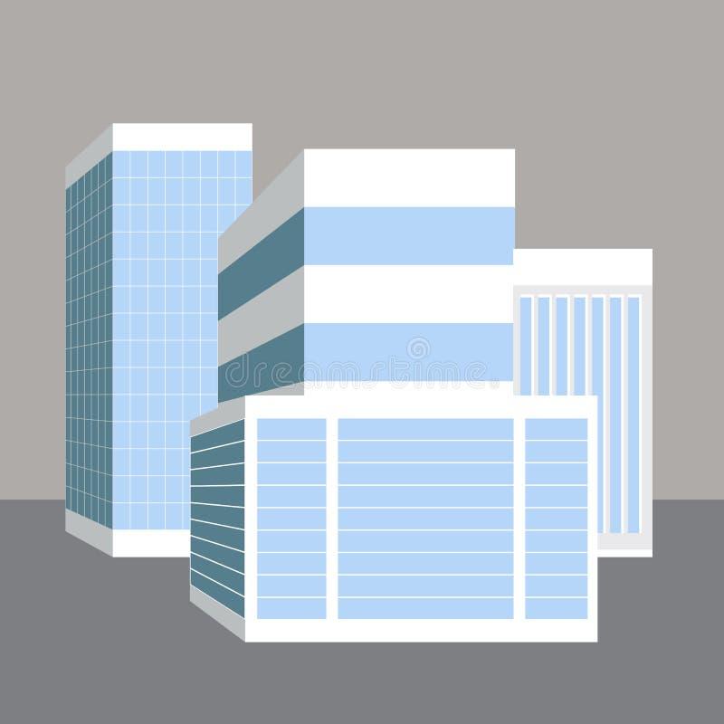Gebäude des Geschäfts-3D vektor abbildung