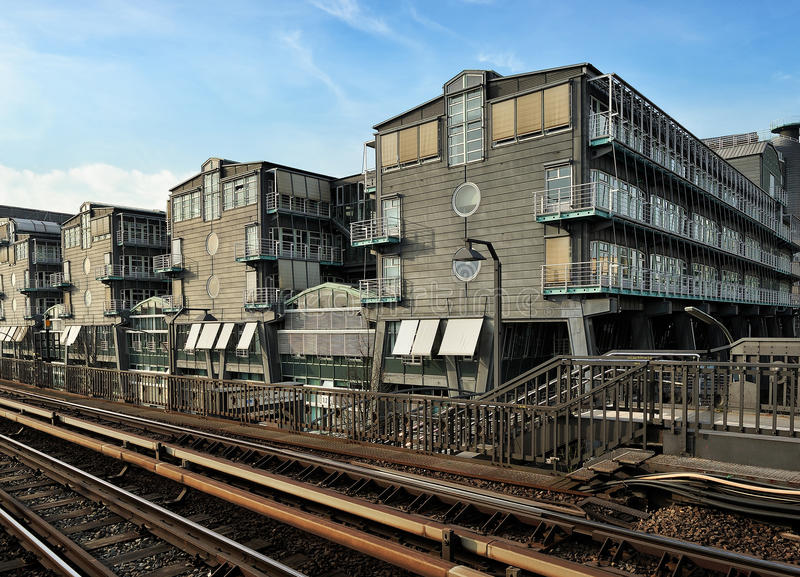 Gebäude des Gruner + des Jahr, die in Hamburg, Deutschland Franc veröffentlichen stockfotografie