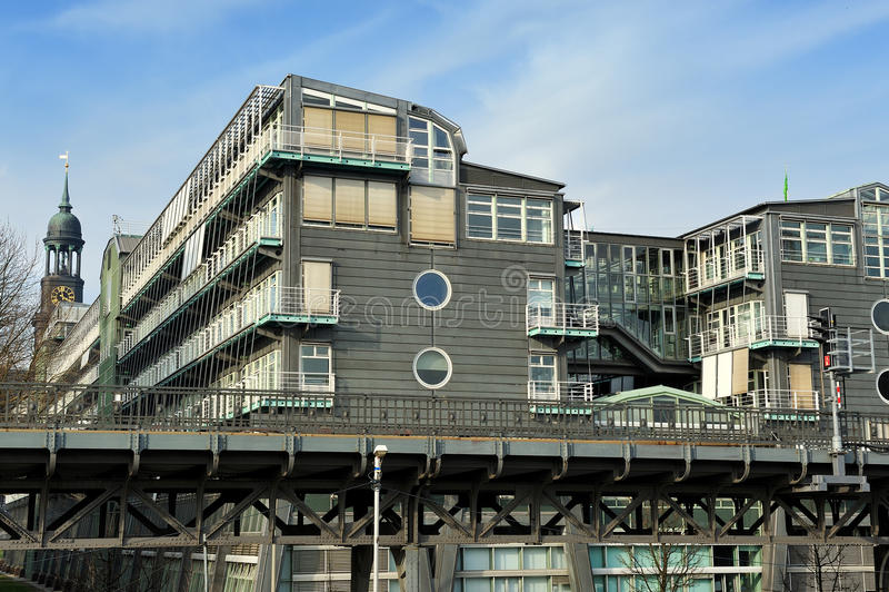 Gebäude des Gruner + des Jahr, die in Hamburg, Deutschland veröffentlichen stockfoto