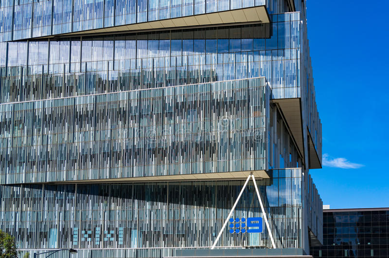 Gebäude des Kanals neun in den Docklands, Melbourne, Victoria, Austral stockbild