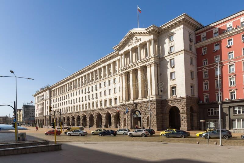 Gebäude des Ministerrats in der Stadt von Sofia, Bulgarien stockfoto