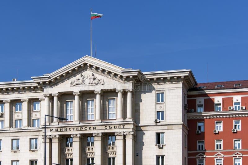 Gebäude des Ministerrats in der Stadt von Sofia, Bulgarien stockbilder