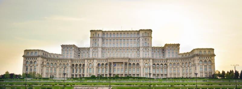 Gebäude des rumänischen Parlaments in Bukarest Rumänien lizenzfreie stockbilder