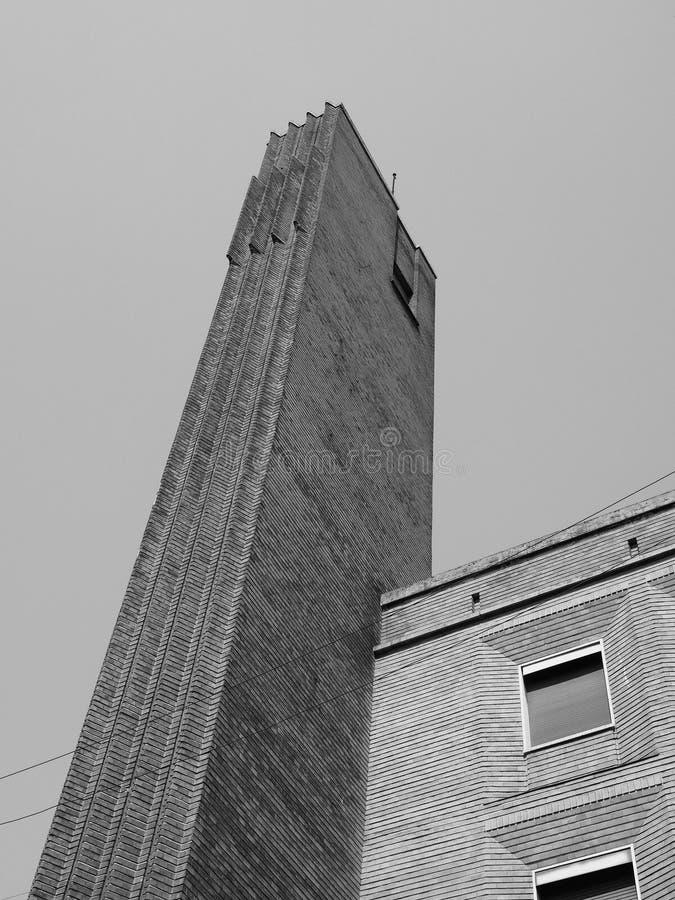 Gebäude Dogane (Gewohnheiten) in Mailand, Schwarzweiss lizenzfreies stockfoto