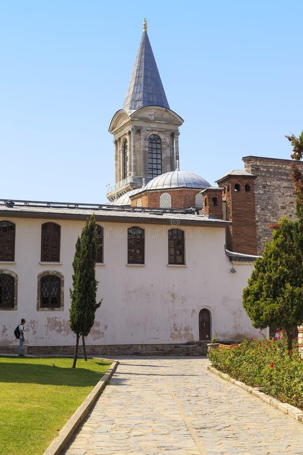Gebäude für weiße Eunuche in Topkapi-Palast, Istanbul lizenzfreie stockbilder