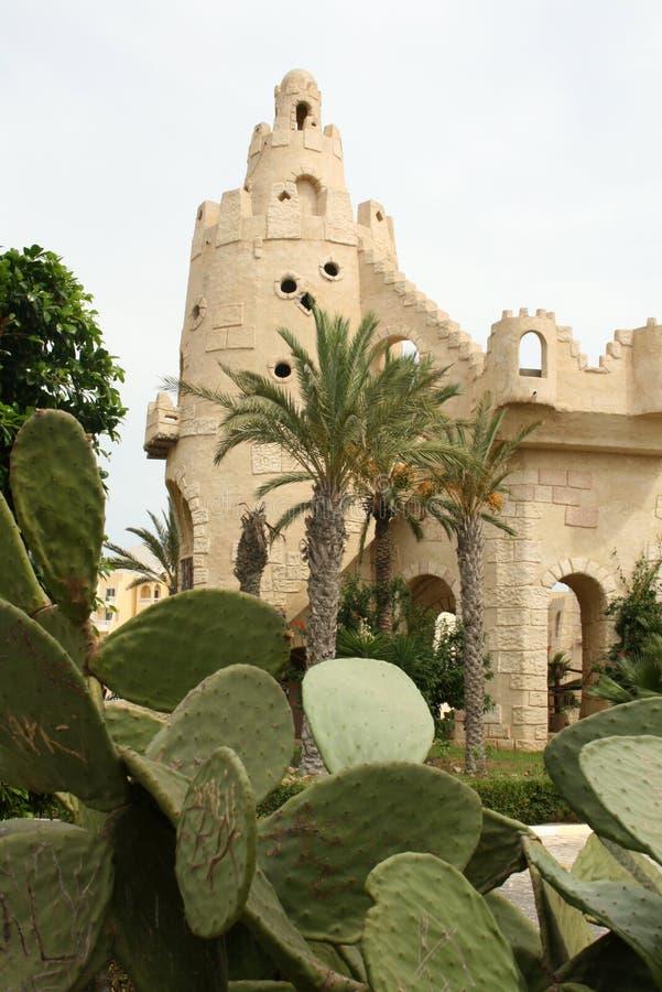 Gebäude in Hammamet, Tunesien lizenzfreies stockbild