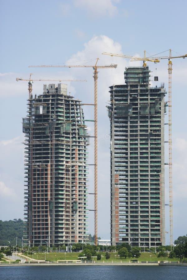 Gebäude im Bau lizenzfreie stockfotos
