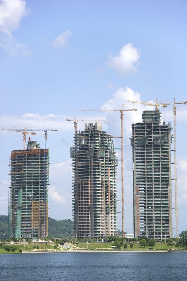 Gebäude im Bau stockbild