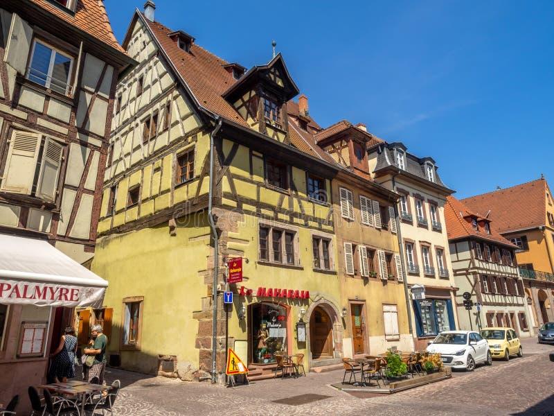Gebäude im Herzen von mittelalterlichem Colmar lizenzfreies stockfoto