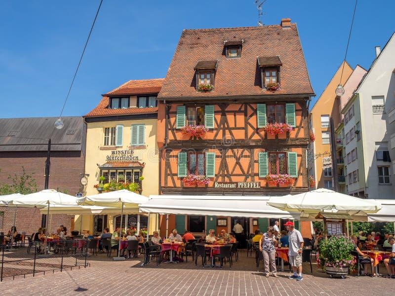 Gebäude im Herzen von mittelalterlichem Colmar lizenzfreie stockfotografie