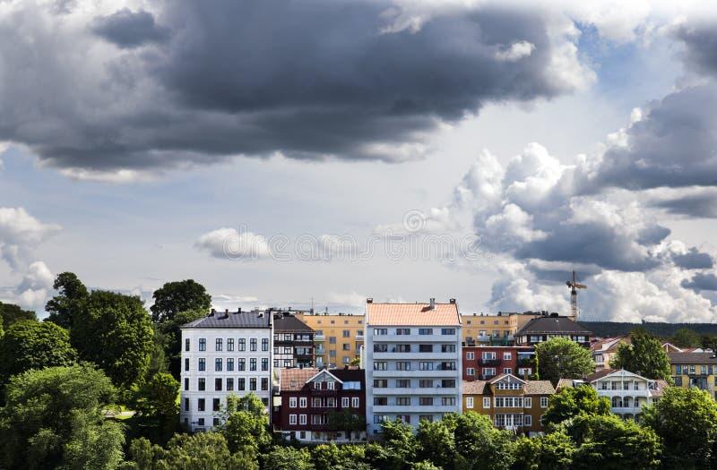 Gebäude in im Stadtzentrum gelegenem Oslo 1 lizenzfreie stockfotografie