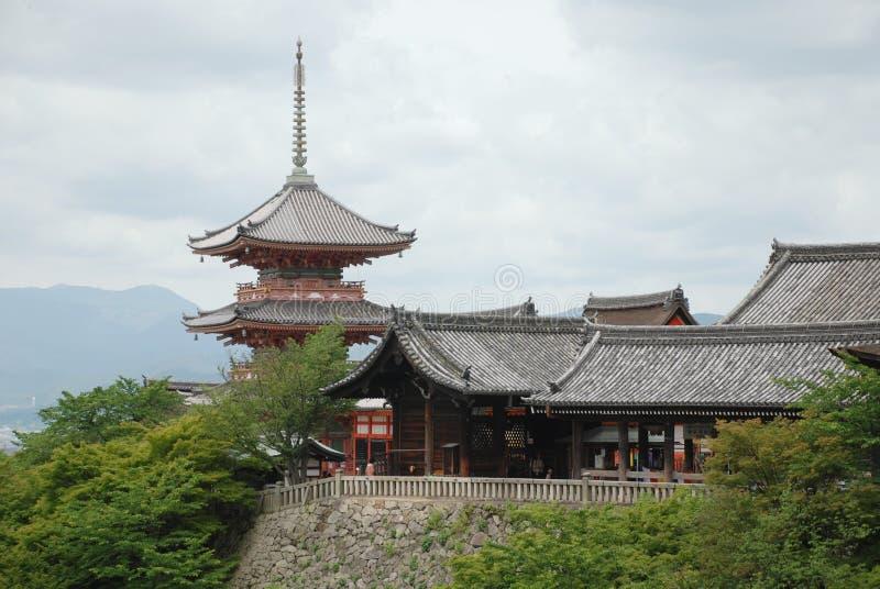 Gebäude am Kiyomizudera Tempel, Kyoto lizenzfreie stockfotos