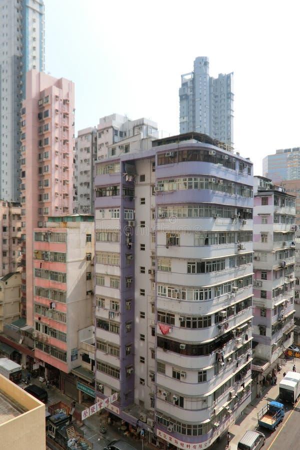 Gebäude in Mongkok Kowloon Hong Kong stockfoto
