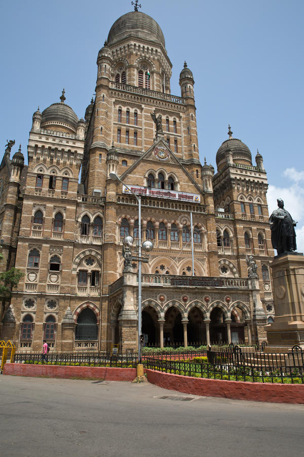 Gebäude Municipal Corporation, Mumbai stockfotos