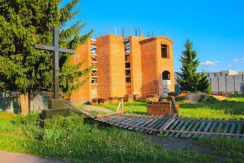 Gebäude nach dem Angriff Die Konsequenzen des Krieges lizenzfreie stockbilder