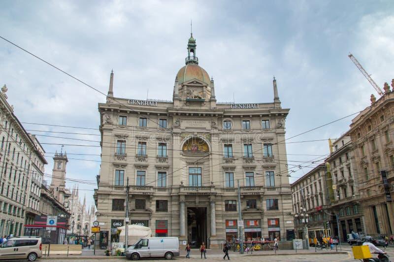 Gebäude Palazzo-delle Assicurazioni Generali stockbilder