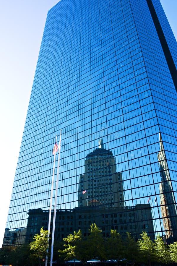 Gebäude-Reflexionen John-Hancock lizenzfreies stockbild