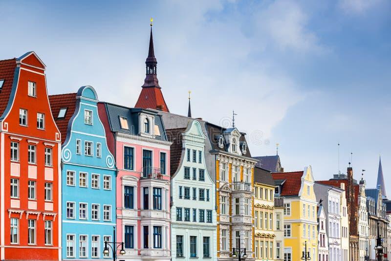 Gebäude Rostocks Deutschland stockbild