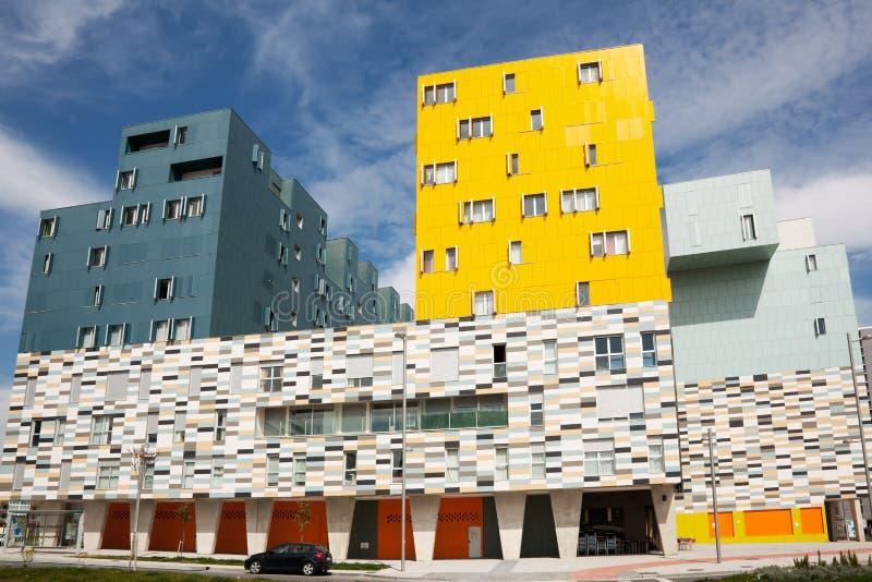 Gebäude in Salburua, Vitoria lizenzfreie stockfotografie