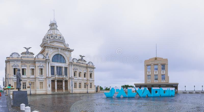 Gebäude in Salvador, Bahia, Brasilien lizenzfreie stockfotos