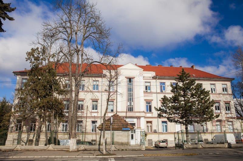Gebäude Tirgu Mures stockfotos