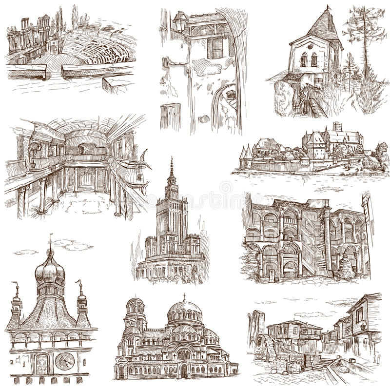 Gebäude und Architektur vektor abbildung
