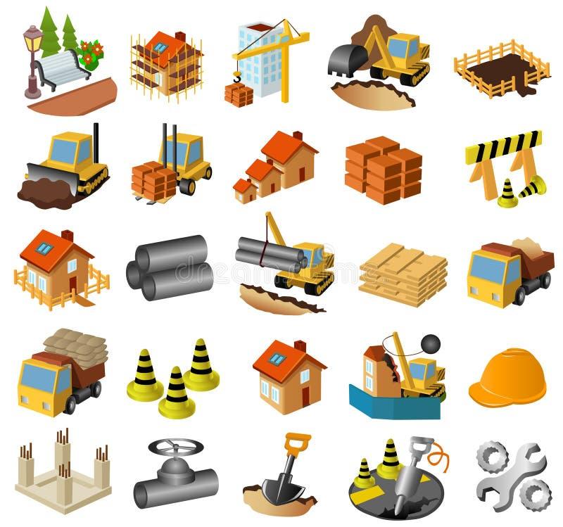 Gebäude- und Aufbauset lizenzfreie stockfotos