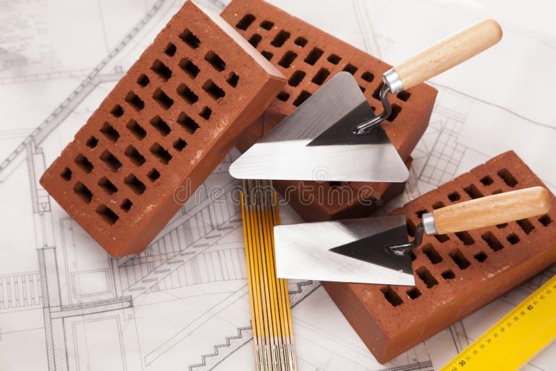 Download Gebäude Und Baugeräte Auf Lichtpause Stockbild - Bild von haupt, aufbau: 27731235
