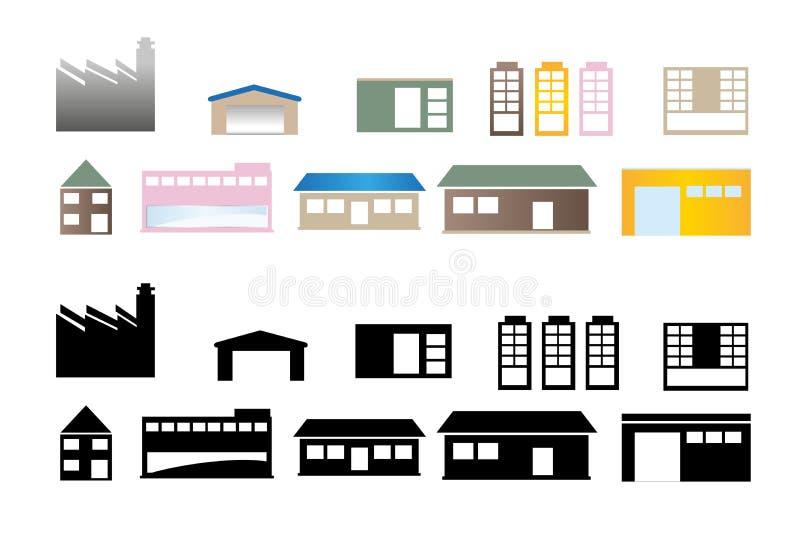 Gebäude-und Häuser Vektordesign lizenzfreie stockfotos