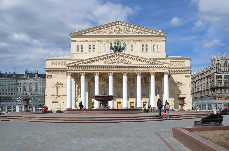 Gebäude von Bolshoi-Theater, Moskau, Russland stockbilder