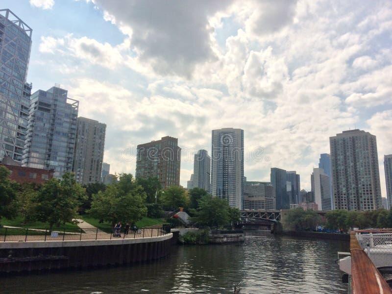 Gebäude von Chicago-Stadt stockfotografie